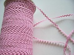 Pink Rick Rack Sewing Trim Ribbon 1/4 inch wide x 25 yards