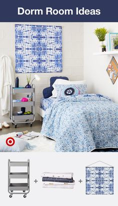 Get ideas for your college dorm room or apartment with decor that fits your style. Find everything you need, like wall decor, posters, string lights, bedding & more to create the perfect study & living space. Dorm Room Checklist, Dorm Room Organization, Organizing, Cute Room Decor, Wall Decor, Loft, Dorm Life, College Dorm Rooms, Dorm Decorations