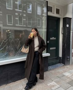 Winter Fits, Everyday Look, Playing Dress Up, Outfit Of The Day, Cool Photos, Knitwear, Duster Coat, Street Wear, Normcore
