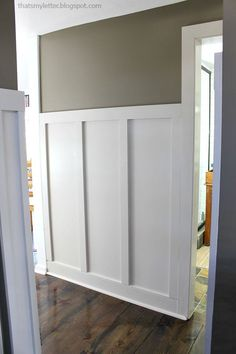 diy board and batten trim in hallway