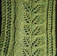 Brooke's Column of Leaves Knitted Scarf Pattern on Ravelry Leaf Knitting Pattern, Lace Knitting, Knitting Stitches, Knitting Patterns Free, Knit Patterns, Stitch Patterns, Free Pattern, Knitted Shawls, Crochet Scarves