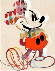 pop art Francisco Nicols Figurative Print - M - art Disney Mickey Mouse, Arte Do Mickey Mouse, Mickey Mouse Y Amigos, Mickey Mouse And Friends, Pop Art Disney, Cute Disney, Mickey Mouse Wallpaper Iphone, Disney Wallpaper, London Art Fair