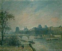 Camille Pissarro - La Seine et le Louvre