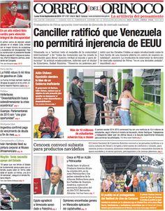 #Portadas #PrimeraPagina #Titulares #Noticias #DesayunoInformativo @CorreoOrinoco