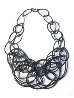 statement necklace in steel // megan auman