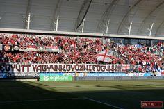 Hazai pályát teremtettek a diósgyőri szurkolók az Új Hidegkuti Nándor Stadionban