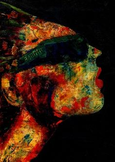 """Artist CARMEN LUNA; Mixed Media, """"15- RETRATOS Expresionistas. Chic !"""" http://www.carmen-luna.com"""