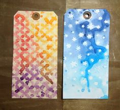 Stamping with stencils, Distress Inks and water
