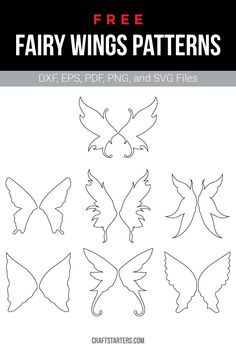 Free Fairy Wings Patterns/Cut FilesYou can find Fairy wings and more on our website.