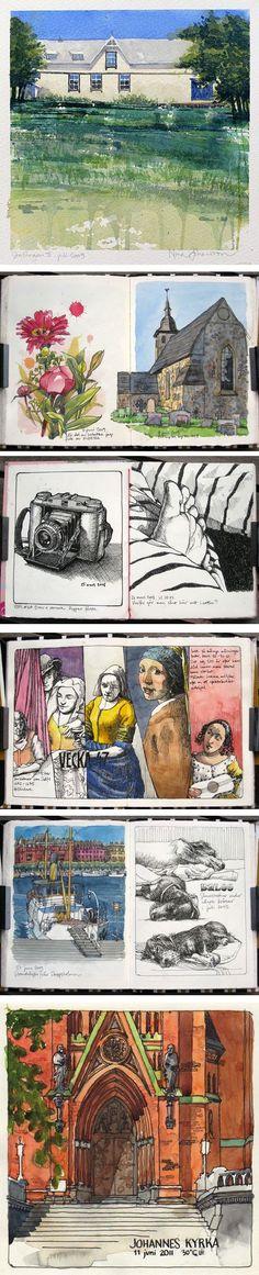 Nina Johansson - Urban Sketches