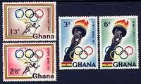 17th Olympic Games - Rome Mint Set of 4 Stamps Ghana, 1960