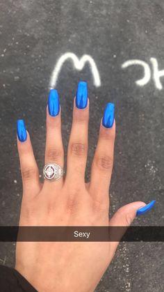 #bluenails #coffinnails #blue #nails #cutenails