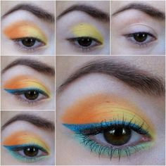 Sunset Eyeshadow - #eyemakeup #eyeshadow #colorfuleyes #colorfulmakeup - bellashoot.com