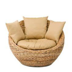 Summer Sage Lounge w/ Cushions - Outdoor Furniture - Outdoor Big Comfy Chair, Craftsman Farmhouse, Meditation Space, Meditation Garden, Outdoor Chairs, Outdoor Furniture, At Home Furniture Store, Round Chair, Deck Design