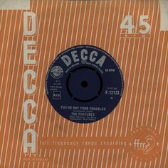 """For Sale - The Fortunes You've Got Your Troubles UK  7"""" vinyl single (7 inch record) - See this and 250,000 other rare & vintage vinyl records, singles, LPs & CDs at http://eil.com"""
