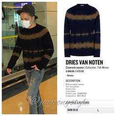 it's @DriesVanNoten #sweater that #Jaejoong wore at Taoyuan International Airport (09/10/14). Price: $588.00 (regular). Credit: JYJ3 for airport photo and thecorner.com for #fashion details. #crewneck #airportfashion #JYJ #kimjaejoong #KoreanIdol #Korean #celebrity #star #singer