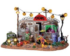 Michaels Lemax Spooky Town   like to keep my village looking sort of Victorian, but this is a fun ...