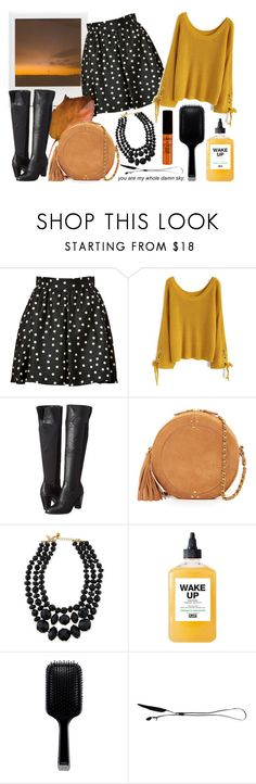 """""""Untitled #1006"""" by helenaki65 ❤ liked on Polyvore featuring Urban Outfitters, Paule Ka, Chicwish, Kenneth Cole, Jérôme Dreyfuss, Kate Spade, Plant Apothecary, GHD, Ann Demeulemeester and NYX"""