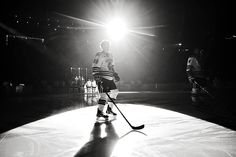 Men's hockey introductions at Ralph Engelstad Arena. Photo by Shawna Noel Photography