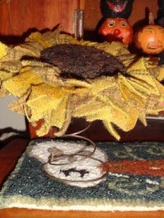 Rugs and Pugs: Sunflower Tutorial ~