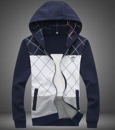 Item Type: Hoodies,Sweatshirts Gender: Men Closure Type: Zipper Fabric Type: Broadcloth Hooded: Yes Collar: Turn-down Collar Sleeve Length: Full Pattern Type: Solid Sleeve Style: Regular Material: Cot
