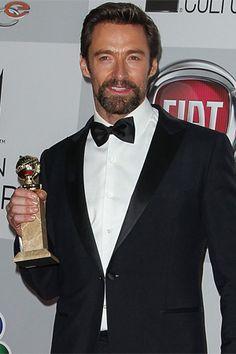 El guapísimo Hugh Jackman ganó su primer Globo de Oro, gracias a su alabado protagónico del musical ´Los miserables´.