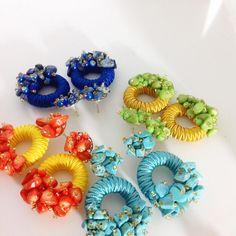 Fashion Days, Beautiful Earrings, Floral Wreath, Jewelry, Decor, Knitting And Crocheting, Tricot, Stud Earrings, Bangle Bracelets