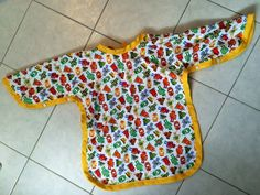 Robots water proof children apron by GeeGeeGoGo on Etsy