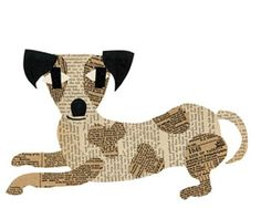 Simple and fun kids paper craft ideas: dogs and cats appliques from newspapers – DIY is FUN Newspaper Collage, Paper Collage Art, Dog Crafts, Paper Crafts For Kids, Collages, Cat Applique, Dog Quilts, Ecole Art, Art Plastique