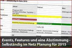 Selbständig im Netz Planung für 2015 – Events, Content, Features und eine Abstimmung - Mehr Infos zum Thema auch unter http://vslink.de/internetmarketing