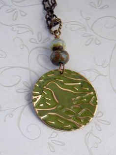 Antique Brass Vintaj Embossed Sweet Bird by NickiLynnJewelry, $23.75