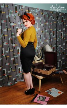 Retro Pencil Skirt in Basic Black - Work Wear - Collections | Pinup Girl Clothing