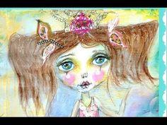 """Princess Dancer"" Fairy Tale Whimsical Princess Video Tutorial Enjoy xo xo AudieG Art"