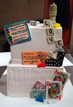 Let the games begin! A crazy wedding cake creation for a very fun couple!