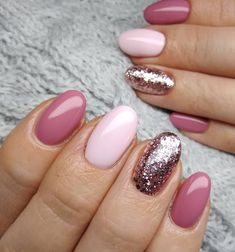 136 wondrous winter nail design ideas for 2020 100 Chic Nails, Stylish Nails, Winter Nail Designs, Nail Polish Designs, Round Nail Designs, Winter Nails, Spring Nails, Fall Nails, Design Page