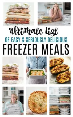 Make ahead freezer meals for a month saved me! I have made 50 easy freezer meals in a day, healthy freezer meals, slow cooker freezer meals and more. Best Freezer Meals Recipes