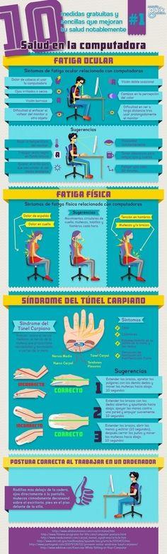 Salud en el ordenador #ergonomia #PRL