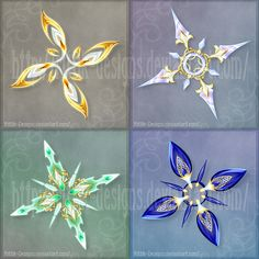 Shurikens (set 4) - Sale! by Rittik-Designs