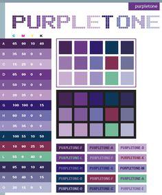 pink color schemes | Purple tone color schemes, color combinations, color palettes for ...