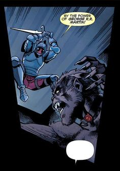 "Deadpool: ""by the power of George R R Martin"" Lol, I love this mercenary <3"