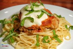 Baked Chicken Parmesan - a lighter take on a very delicious, very classic dish. Here's the recipe: http://comfortablefood.com/baked-chicken-parmesan/