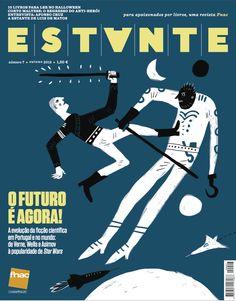 Revista Estante nº 7 - O futuro é agora! A evolução da ficção científica em Portugal e no Mundo. Ilustração de Afonso Cruz. Edição de Adagietto - http://www.adagietto.pt #revistaestante #afonsocruz #revistas #magazines