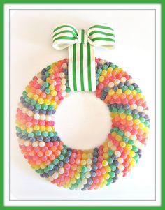 awesome gumdrop wreath :)