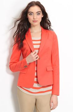 Great for work! Vince Camuto Single Button Blazer in a poppy color $165