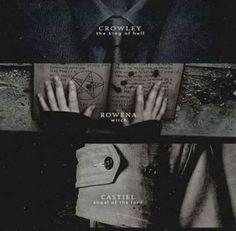 Crowley, Rawena, Castiel