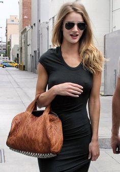 ray bans + tshirt dress + rocco duffel
