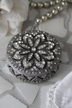 Like the Irish & Celtic Seas. Stunning Antique Silver Salon Trinket Box.