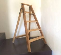 French Vintage Ladder. Foldable Step Ladder. by LePasseRecompose
