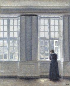 Image result for hammershoi  windows paintings