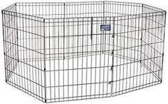 MidWest Exercise Pen, 30-Inch, Black